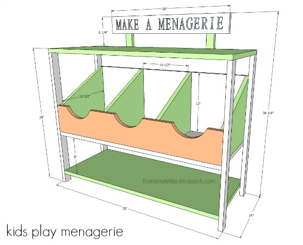 diy kids play menagerie free plans