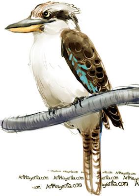Kookaburra år en fågelmålning av Artmagenta