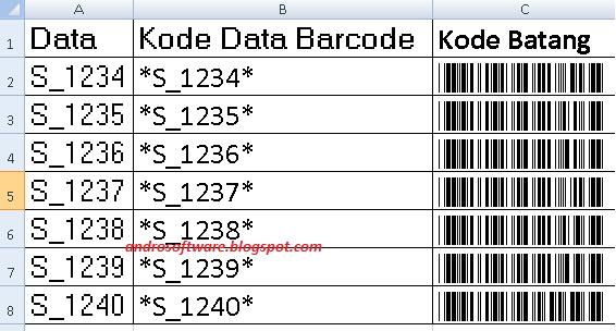 Cara Membuat Kode Barcode Dengan Excel