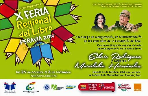Feria Regional Libro Peravia 2014 Sábado 1 noviembre Día San Juan 6:00 pm