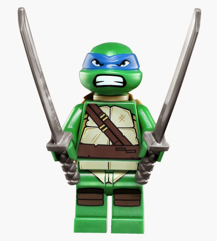 Incluye 3 minifiguras: Leonardo, Michelangelo, un Soldado Foot y 2 personajes (Dogpound y Kraang).