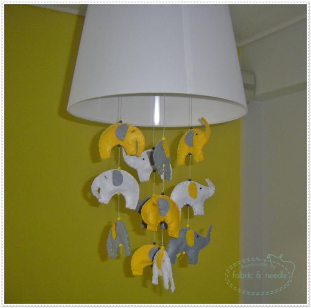 handmade felt elephants