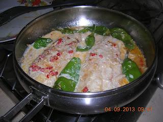 pangasio col latte di soia e frigittelli----e  pasta mista con zucchine -. carote sedano e  peroncino fresco