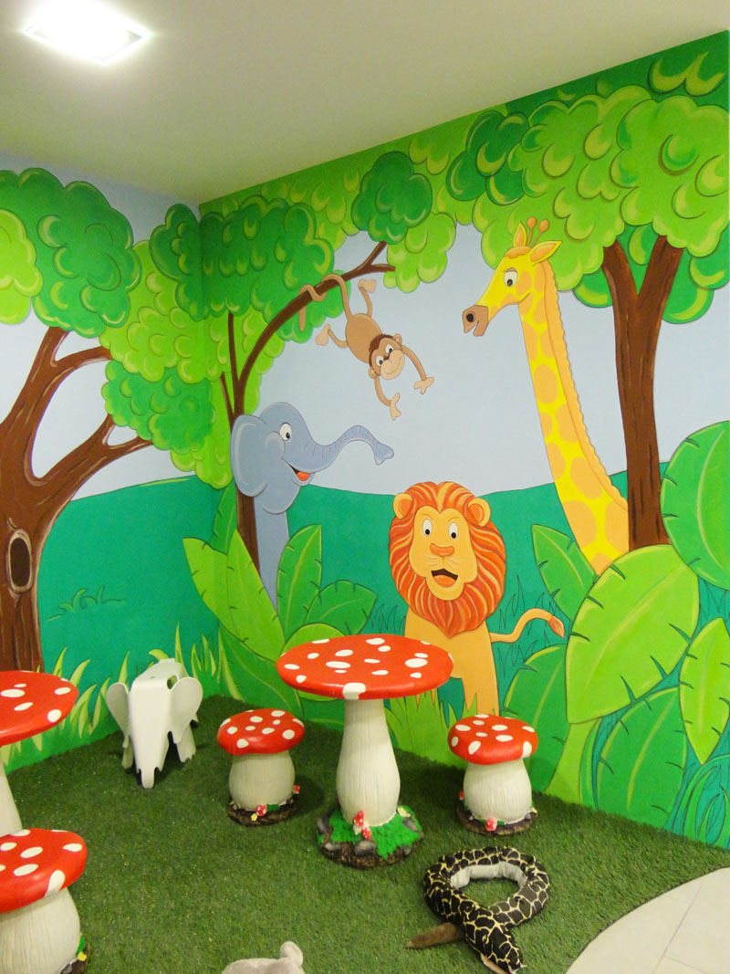 Decopared murales infantiles decorativos for Ideas para decorar paredes infantiles
