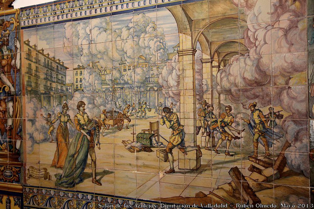 Valladolid fotoblog salon de los azulejos diputaci n de for Salon los azulejos