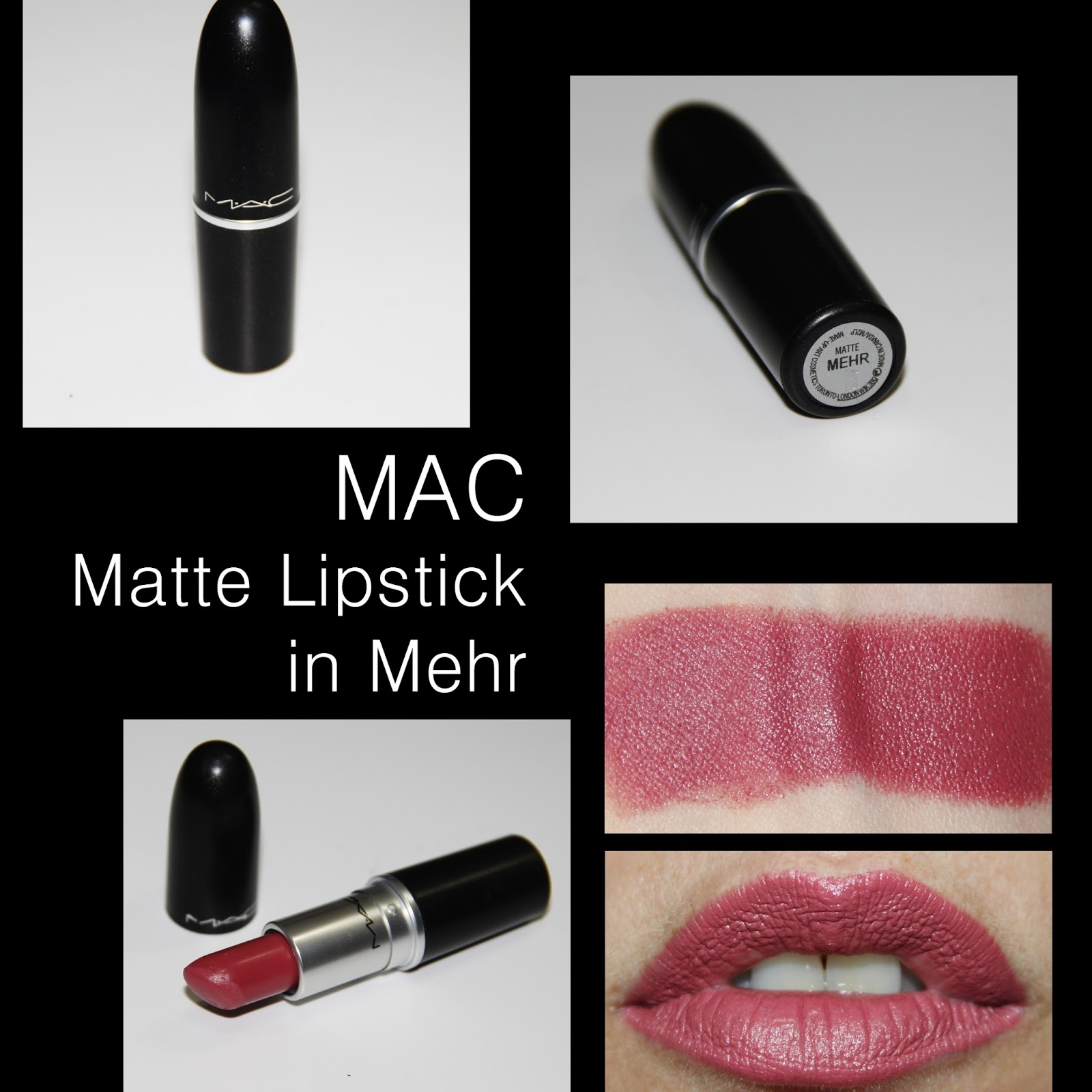 Favorito MichelaIsMyName: MAC Matte Lipstick in Mehr REVIEW ZH49