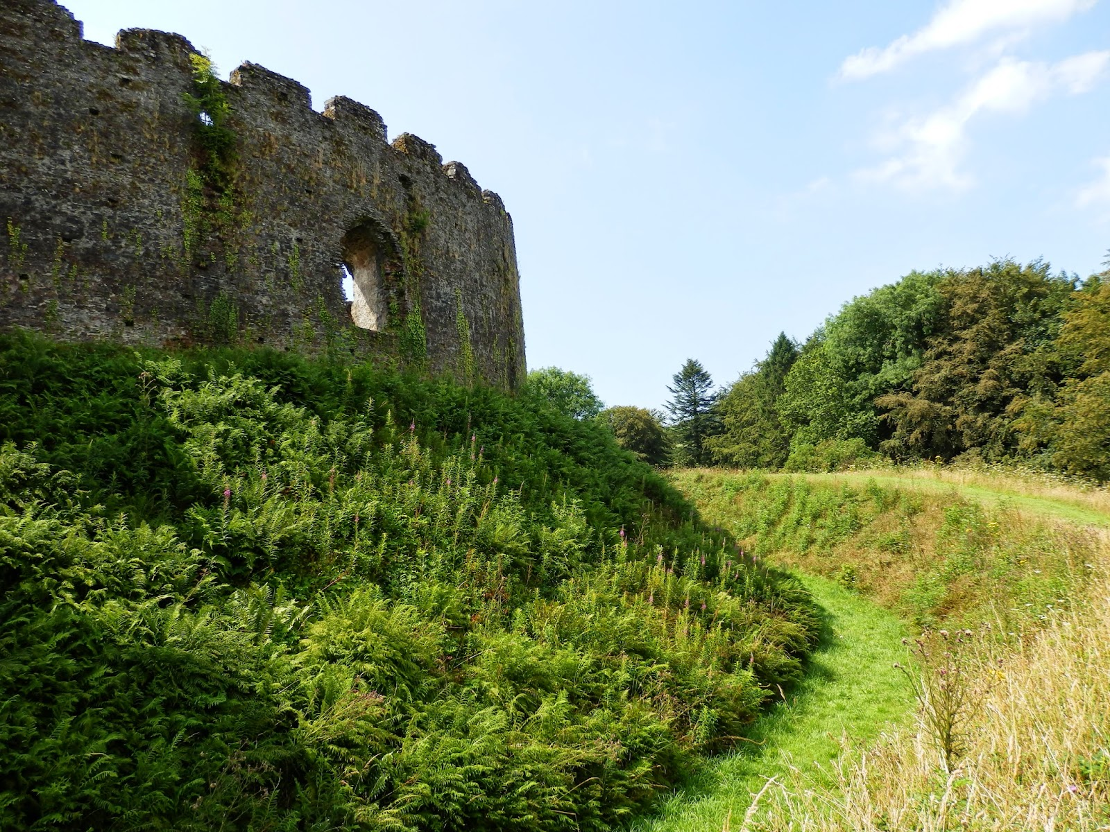 Castle moat at at Restormel Castle Cornwall