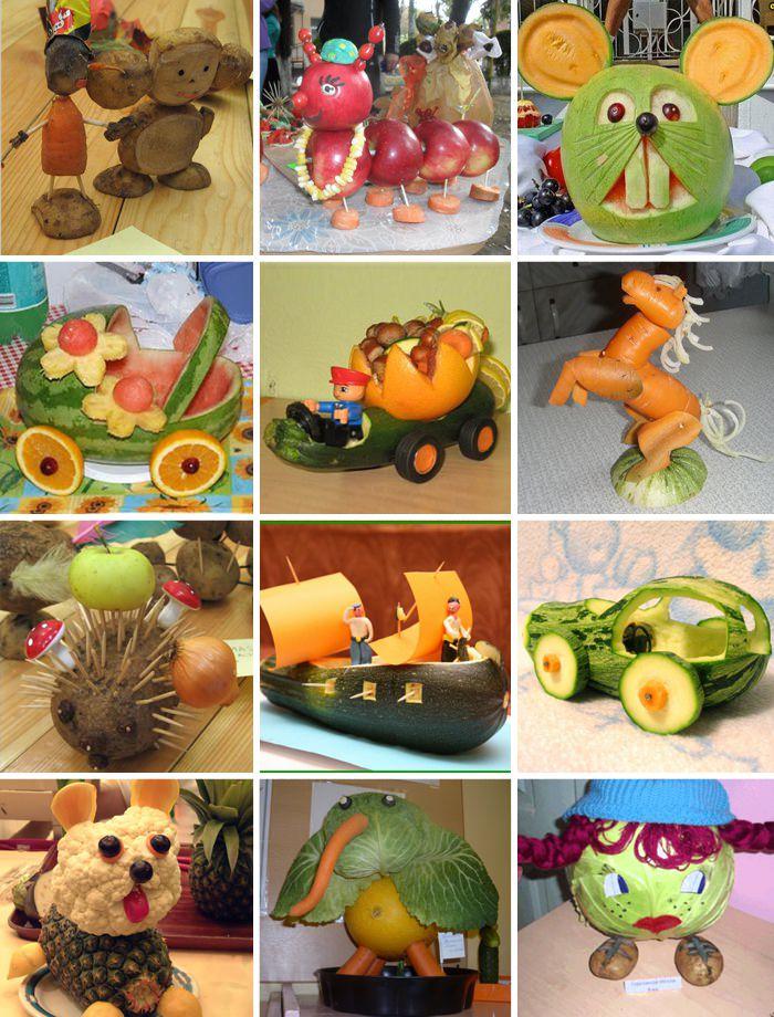 Поделки из овощей своими руками для детского 7