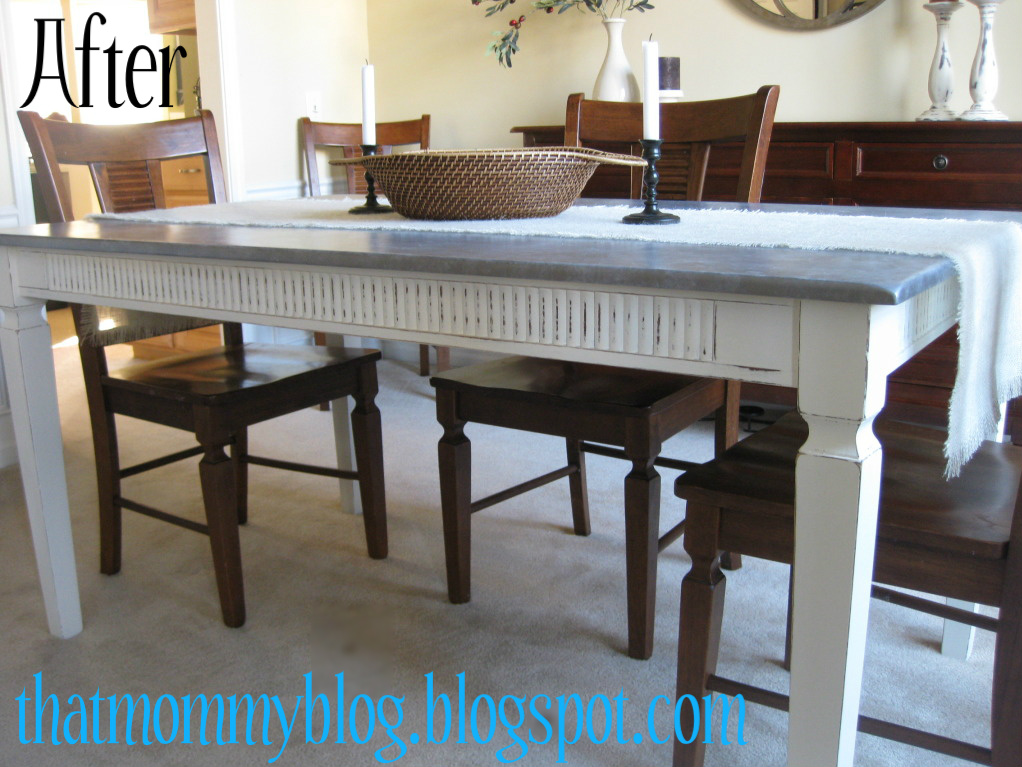 That mommy blog ballard designs knockoff diy zinc table
