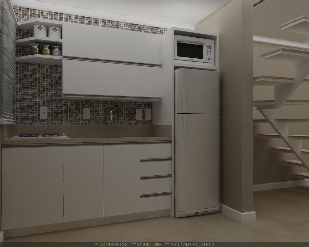 COZINHA COMPACTA  ANA BOUFLEUR  ARQUITETURA # Cozinha Compacta Cadorin