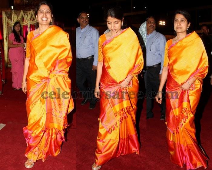 YS Bharathi Mustard Silk Saree