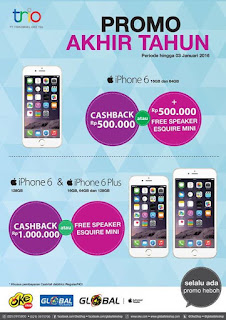 Promo iPhone 6 dan 6 Plus Desember 2015 di Global Teleshop dan OkeShop