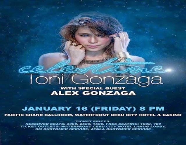Toni Gonzaga Concert,Toni Gonzaga, Concert,January 16 2015,Cebu,Toni Gonzaga Songs,Pacific Grand Ballroom,waterfront hotel,Celestine, OPM,