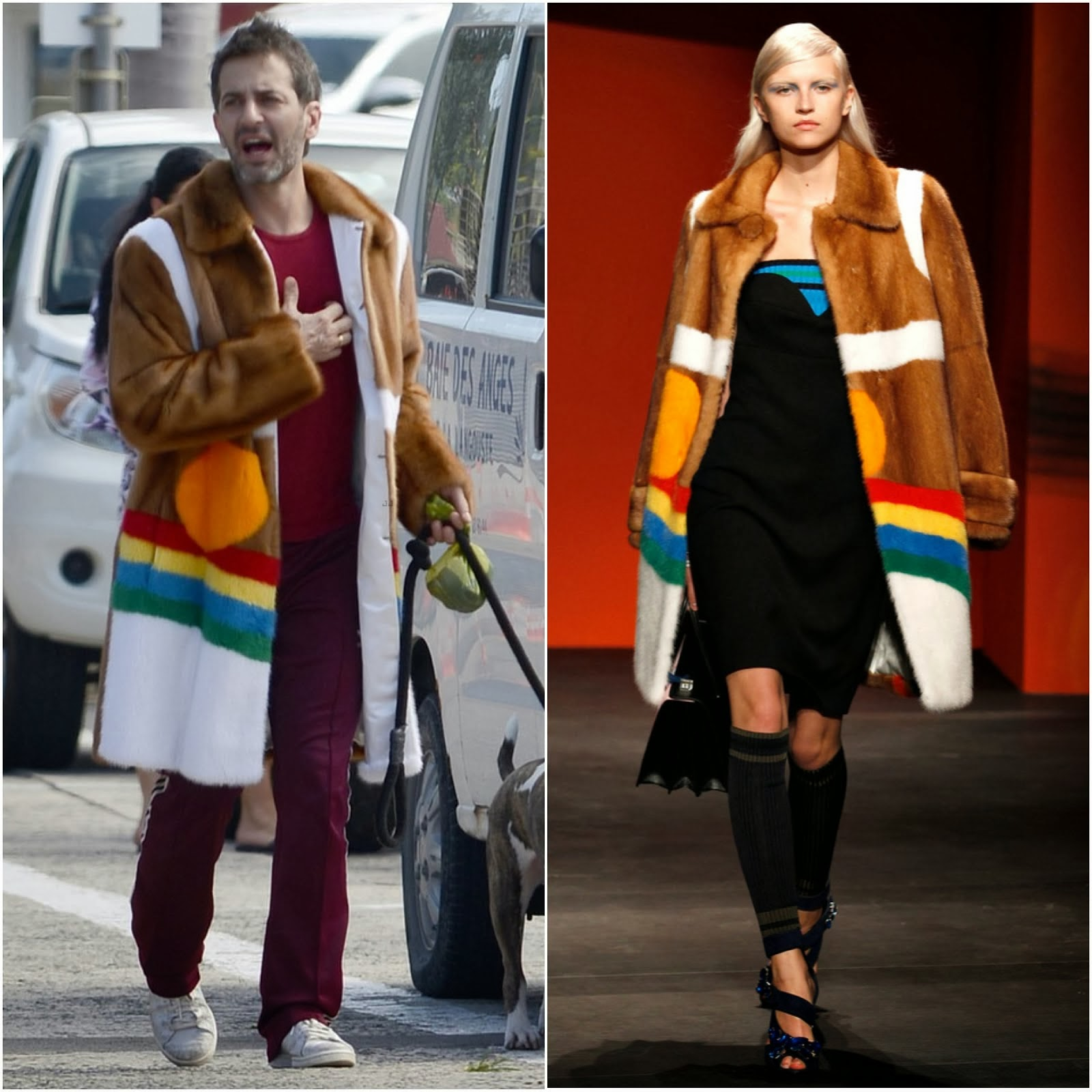 Marc Jacobs in Prada Spring Summer 2014 - New York Street Style