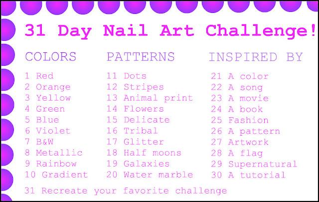 Day Nail Art Challenge Violet