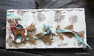 Шоколадница своими руками. Олень, птичка, кружево, шишки, ветки. Автор Carambolka.
