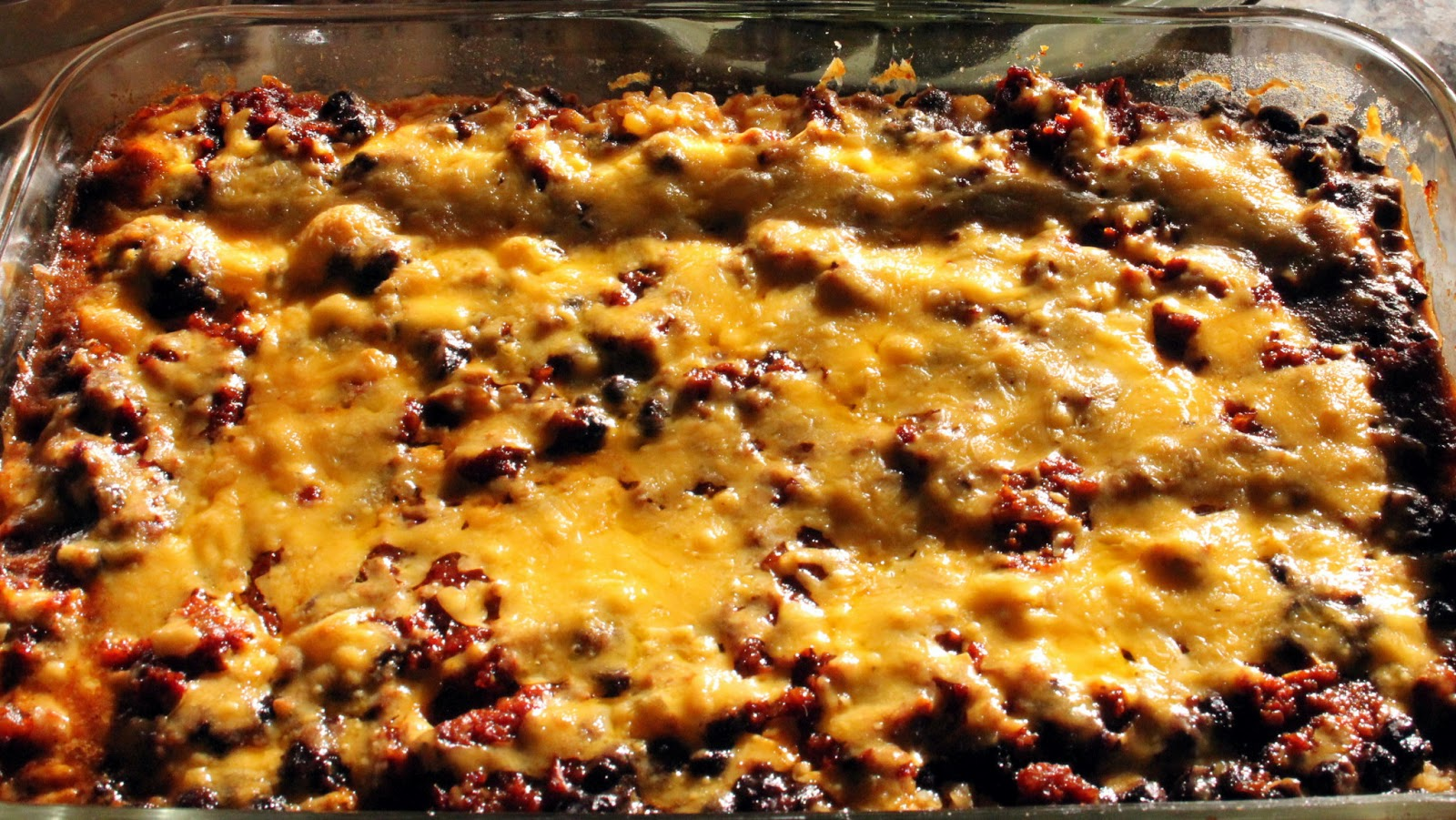 Grain Crazy: Enchilada Casserole with Black Beans and Brown Rice