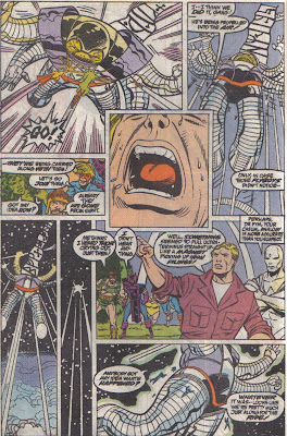 Thor is just belting it out in the middle panel.