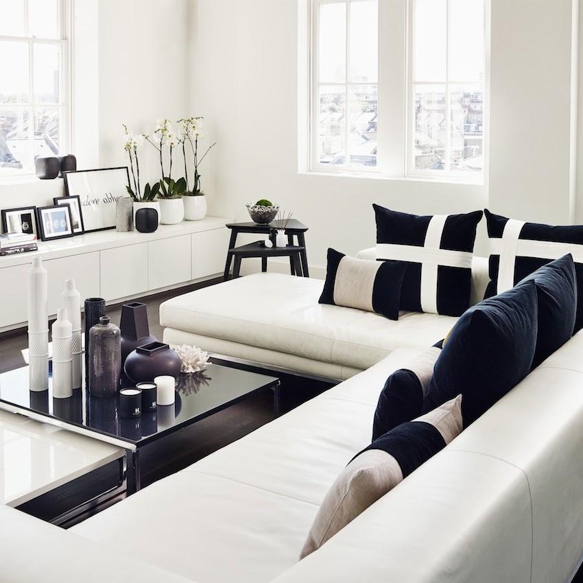 Vydia rishie the vr verdict art of home kelly hoppen for Black and white living room interiors