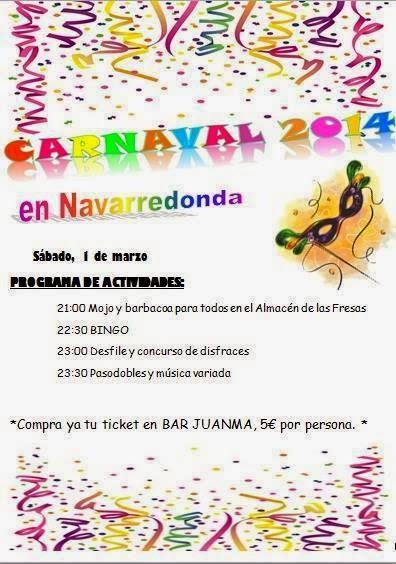 1/Marzo: Carnaval. Navarredonda