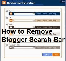 How to Remove Blogger Search Bar : easkme