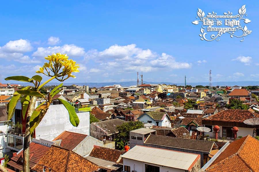 pemandangan kota Jogja dari atas