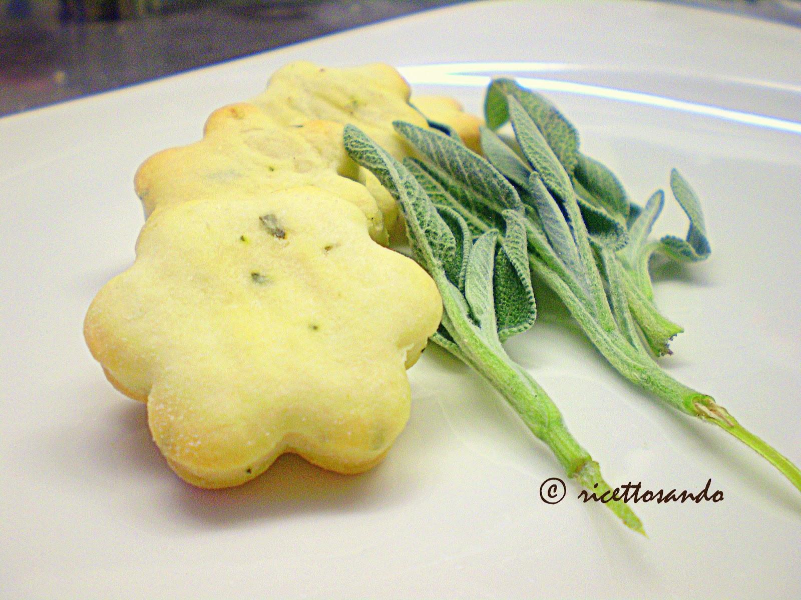 Biscotti alla salvia salati ricetta snack salati