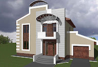 Foto de diseño de casa moderna con estilo futurista