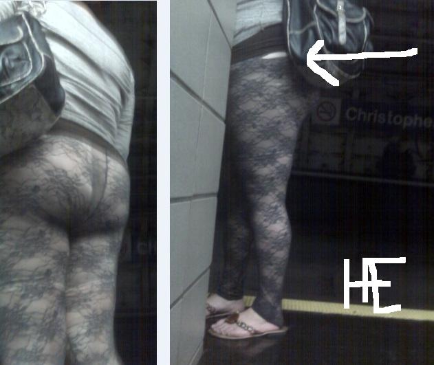 Fat girls wearing leggings as pants