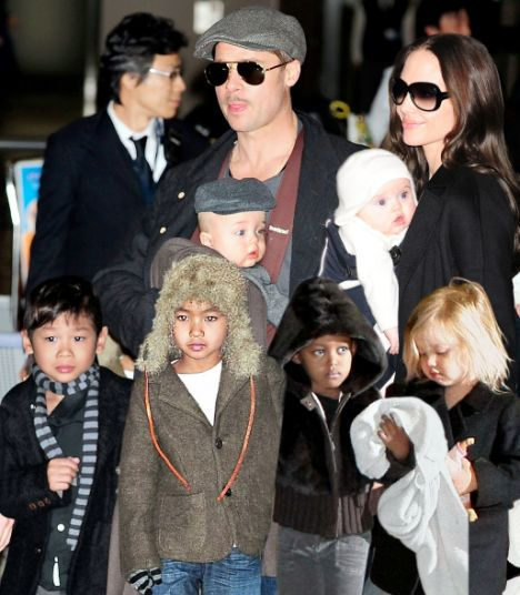 Brad Pitt and Angelina Jolie with their kids | Photo courtesy of