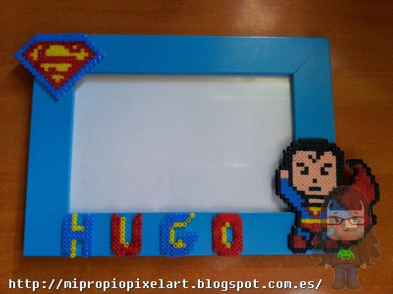 Mi Propio Pixel Art con Hama Beads: Marco de fotos de Superman