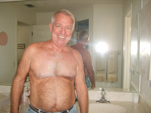 hairy chest - handsome dad