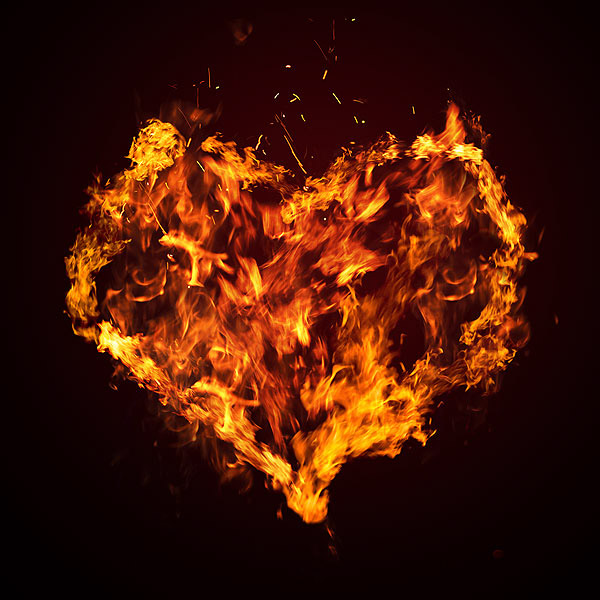 Heart with Fire