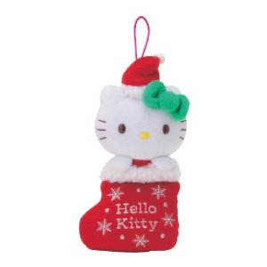 Hello Kitty Christmas stocking hanging ornament for Christmas tree decoration