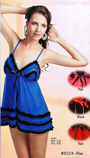 8204 : Colour Available : BLUE only, Free Size (Size Fits Most S, M & L) with G-String RM 49 EACH