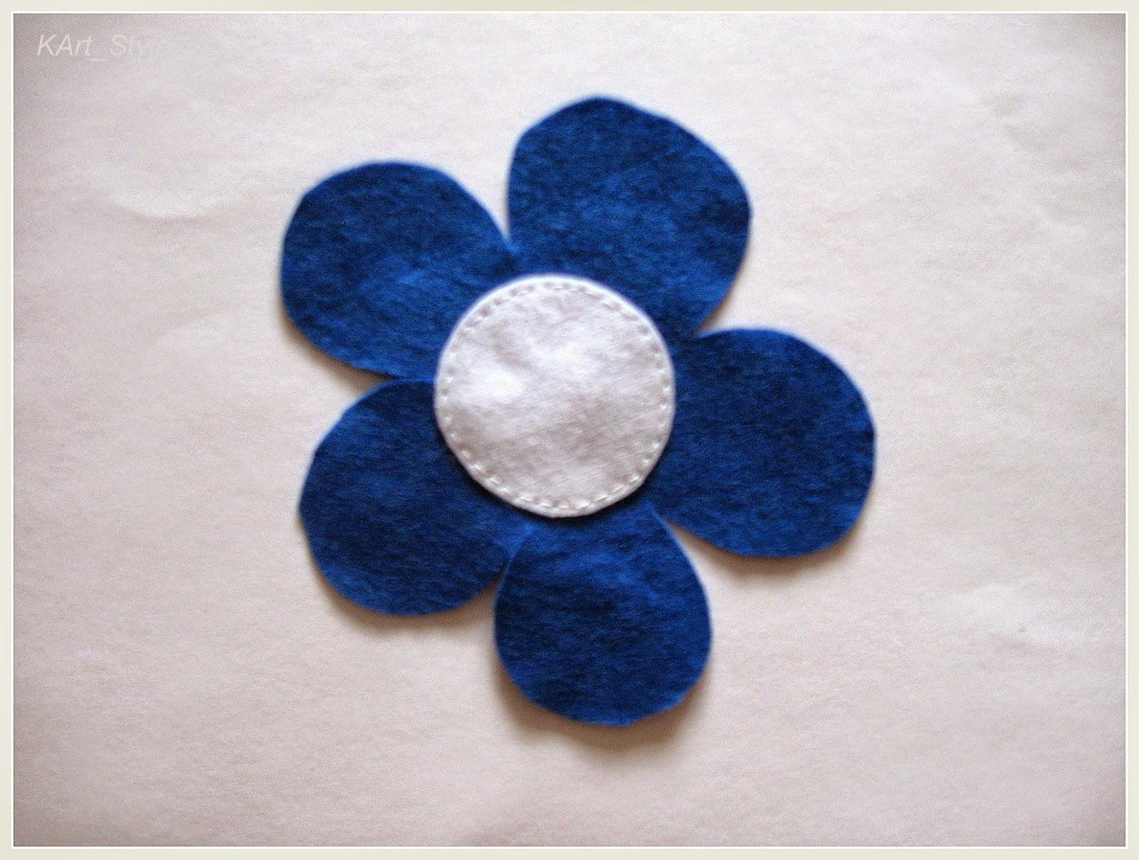 filcowy kwiatek