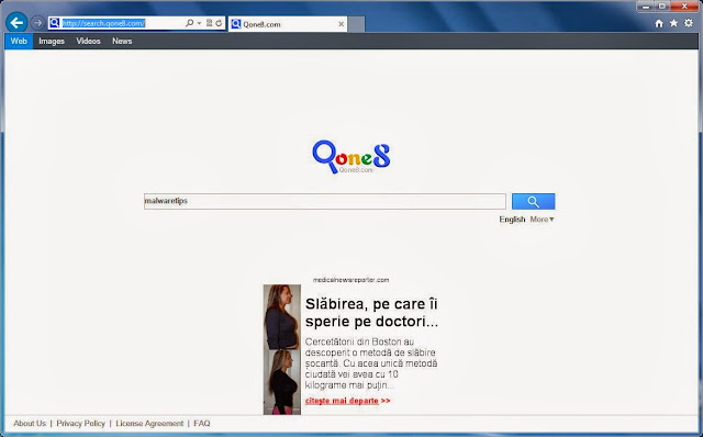 Come rimuovere qone8 da Chrome Firefox e Internet Explorer - Ripristino pagina iniziale