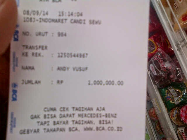 Bukti Transaksi Idblackmarket