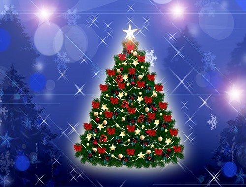 decorated christmas tree wallpaper free download