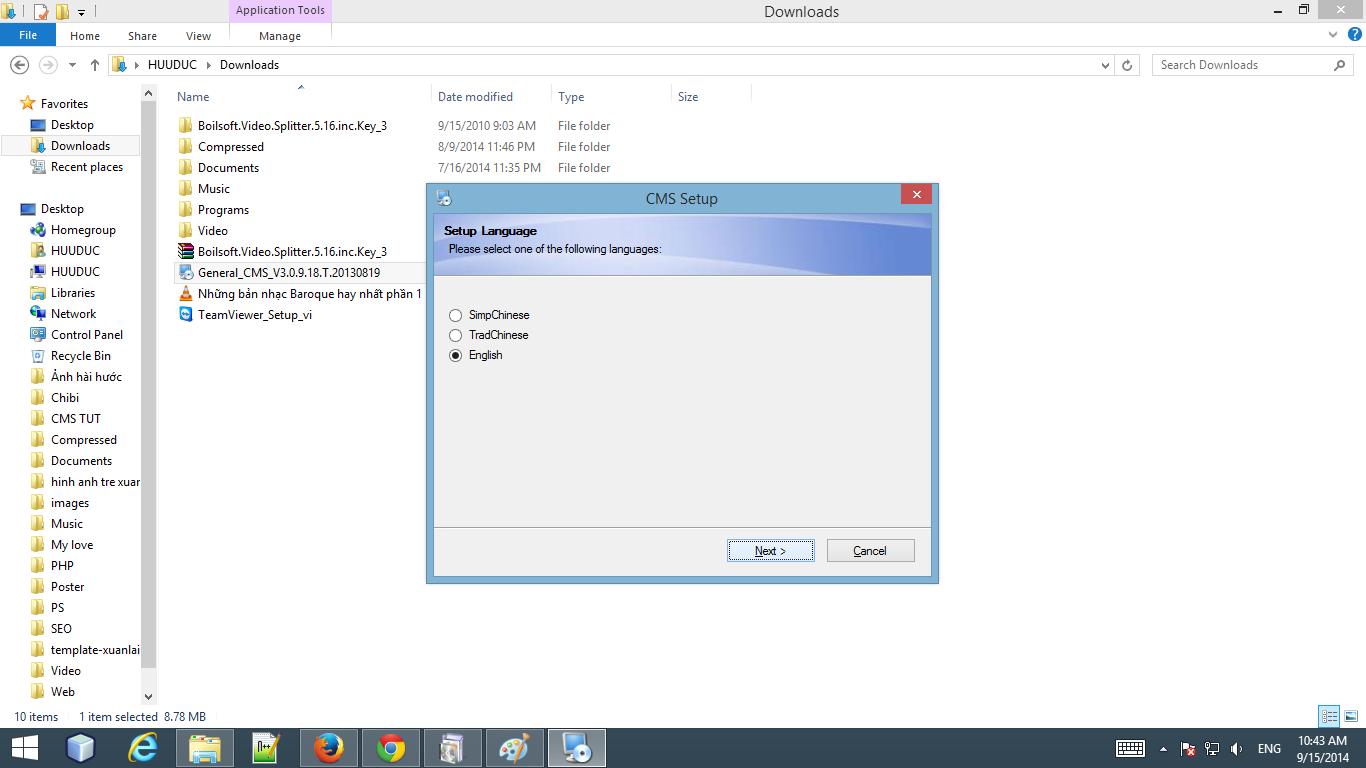 hướng dẫn cài đặt phần mềm CMS Samtech