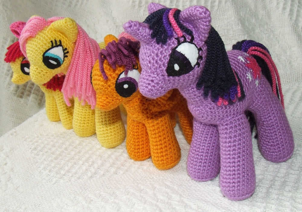 Amigurumi Pattern My Little Pony : Knit One Awe Some: My Little Pony: Friendship is Magic ...