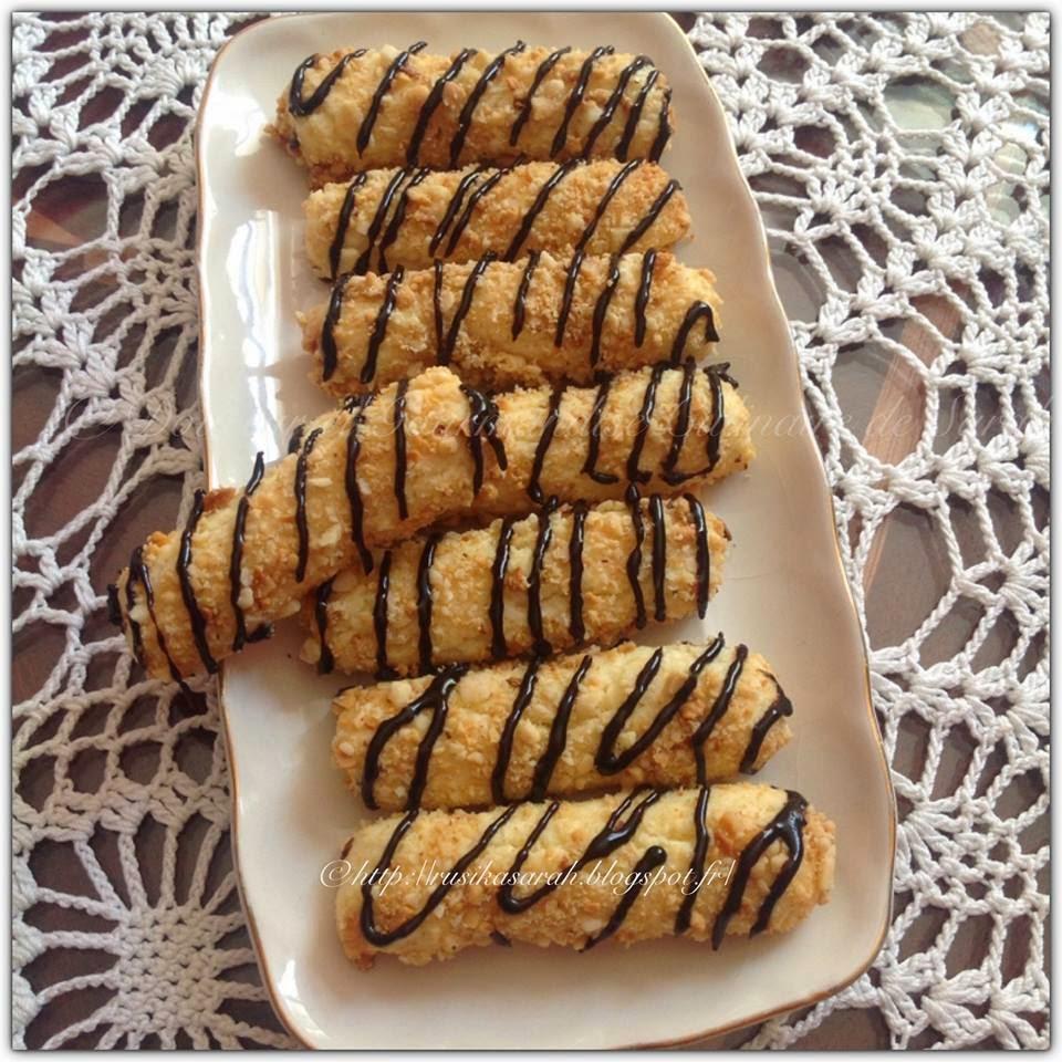 Batonnets Au Chocolat Et Aux Cacahuètes: Petits Boudins Aux Cacahuete