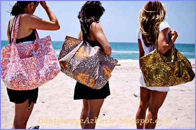 Как пошить простую пляжную сумку