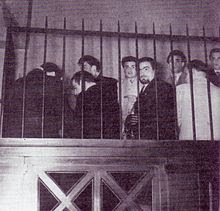 Novembre 1953, membri della Volante Rossa alla Corte di Assise e di Appello di Venezia