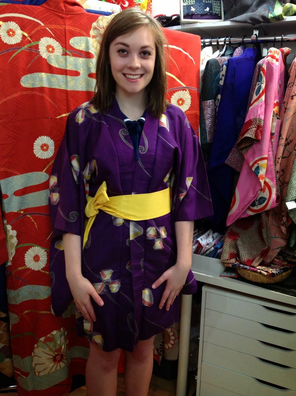 Silk kimono jacket from Kimono House NYC
