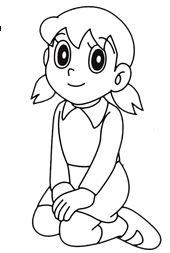 Mewarnai Gambar Tokoh Kartun Doraemon Dan Kawan Kawan