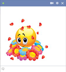 Facebook Emoticon with Flowers