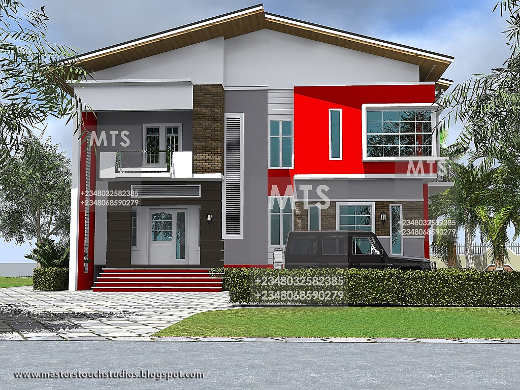 Mr olayemi 4 bedroom duplex residential homes and public for 4 bedroom duplex designs