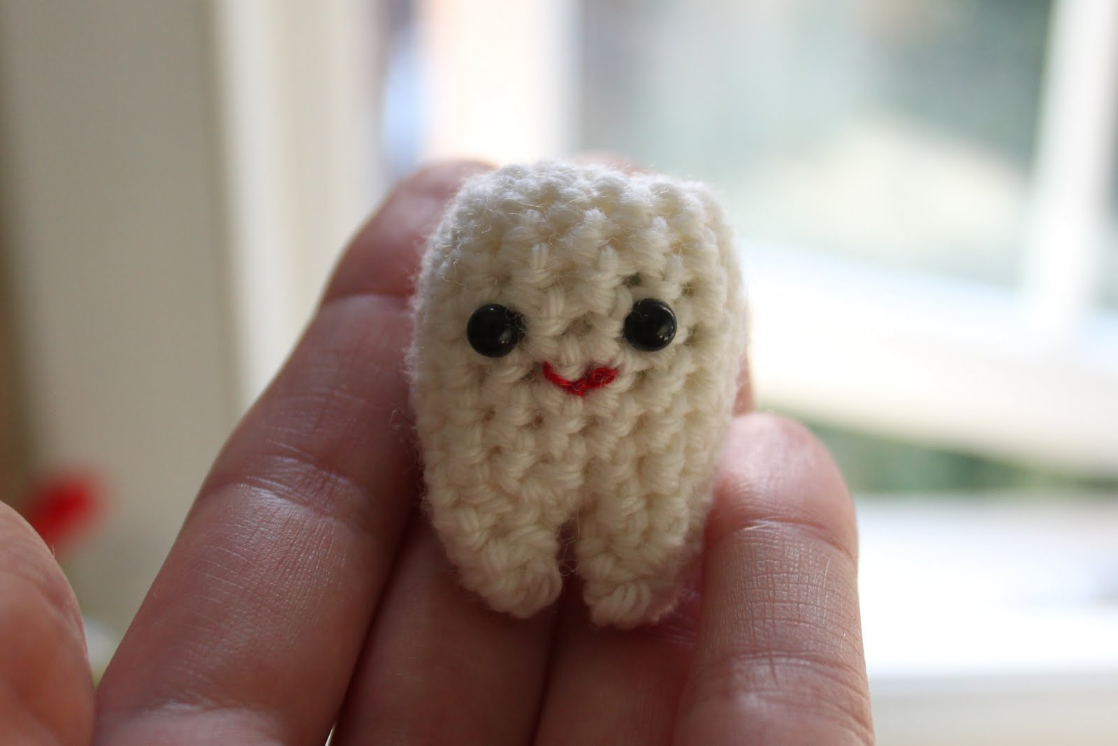 Free Crochet Pattern Tooth Fairy Pillow : KnittingPony: Tiny Tooth Free Crochet Pattern