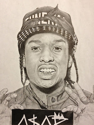 hip hop illustrations - asap rocky - rapper wallpapers